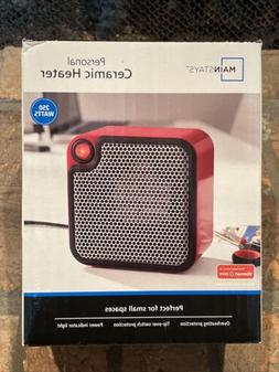 Mainstays Ceramic Personal Space Heater Red Electric Portabl