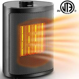 Ceramic Portable Space Heater with Adjustable Heating Level