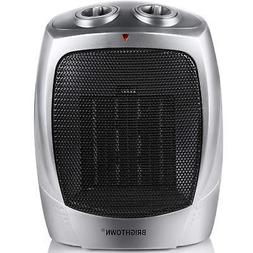 Brightown Ceramic Space Heater 750W/1500W ETL Listed Portabl