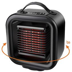 KNGUVTH Ceramic Space Heater, Portable Heater Personal PTC C
