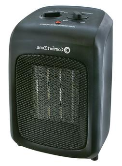 Comfort Zone Ceramic Space Heater Electric 1500W Compact The