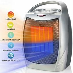 Ceramic Space Heater, Electric Portable Room Heater with Adj