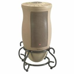 Ceramic Space Heater Oscillation Remote Built-in Timer Beige