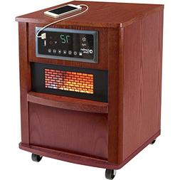 Comfort Zone CZ2062C Infrared Quartz Wood Cabinet Heater, 20