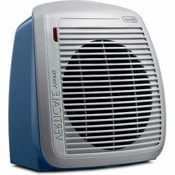 delonghi 1500 watt fan heater blue