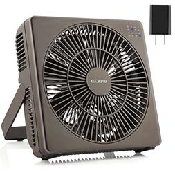 OPOLAR 8 Inch Desk Fan, USB Operated, 4 Speeds+Natural Wind,
