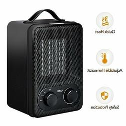 Douhe Portable Oscillating Ceramic  Space Heater - Black