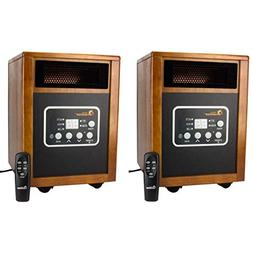 Dr. Infrared Heater Portable Space Heater 2 Pack 1500-Watt D