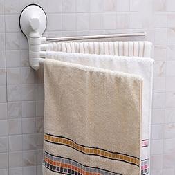 Seatracl No Drill Hook Rotating Towel Rack Bathroom Accessor