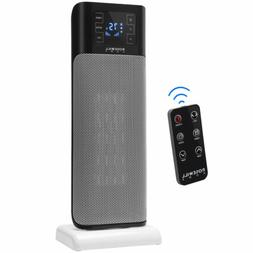 Electric Ceramic Tower Heater 1500W Portable Oscillating Sma