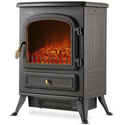 VonHaus Electric Fireplace Stove Heater with Log Wood Burnin