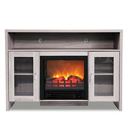 """JAXPETY 42.5"""" Large Electric Fireplace TV Stand,Fireplace Sp"""
