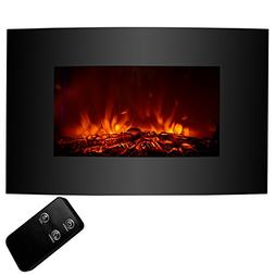 "KUPPET 33"" Electric Fireplace Wall Mount with Heater Adjusta"