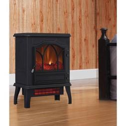 Electric Infrared Quartz Stove Heater, 5,200 BTU with black