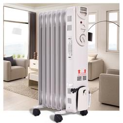 Electric Oil Filled Radiator Radiant Heat Thermostat Room Co