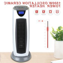 Electric Oscillating Ceramic Space Heater Tower Room Radiant