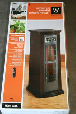 Electric Portable Tower Infrared Quartz Space Heater w/ Remo