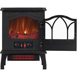 Electric Quartz Infrared Fireplace Stove Heater with Adjusta