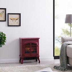 Electric Space Heater 2 Heating Settings Thermostat Fireplac