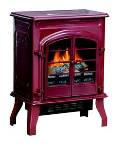 Bold Flame Electric Space Heater, Glossy Red High Quality El