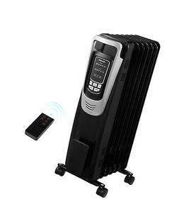 Electric Space Heater Oil-Filled Radiator with Thermostat En