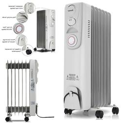 Electric Space Heater Radiator Portable Oil Filled Heater 15