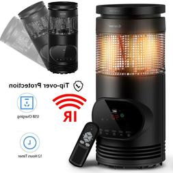 Electric Space Heater Tower Infrared Heater Energy Efficient