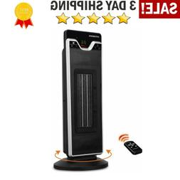 Electric Space Heater with Adjustable Thermostat Portable Os