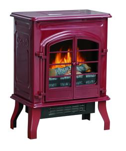 Electric Space Stove Heater,Elegant Glossy Red appliance Hig