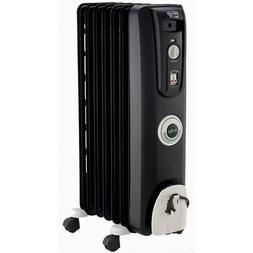 DeLonghi EW7707CB Safe Heat 1500W ComforTemp Portable Oil-Fi