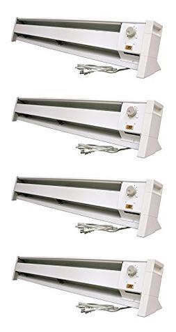 Fahrenheat FBE15002 Dual Wattage Electric 5120 BTU Baseboard