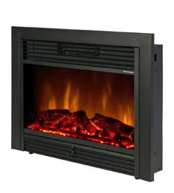 Fireplace Electric Embedded Insert Space Heater Glass Log Fl