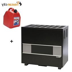 Toucan City Gas Can and Williams 65,000 BTU/hr Fireplace-Log
