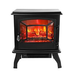 "ROVSUN 20"" H Electric Fireplace Stove Space Heater 1400W Por"
