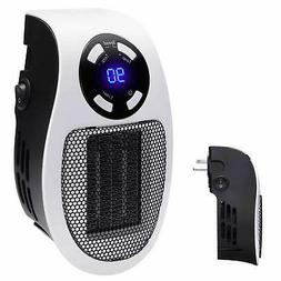 Handy Wall-Outlet Space Heater, Plug-in Ceramic Mini Heater