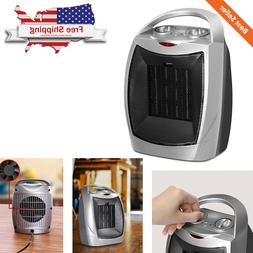Quiet Ceramic Space Heater 750W / 1500W Compact & Safe w/ Ad