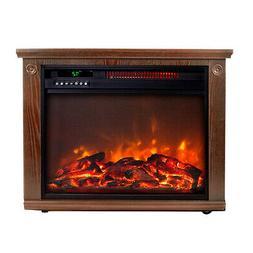 Lifesmart 1000 Square Foot Infrared Dark Oak Fireplace
