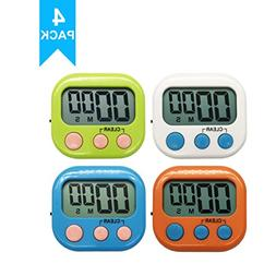 Xpeciall 11 Kitchen Timers Clock with Big Digits Loud Alarm