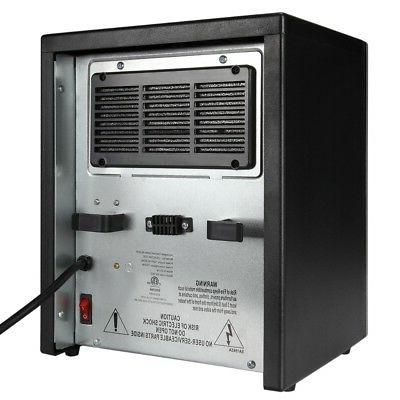 Homegear 1500 SqFt Electric Portable Space Heater Black +Remote Control