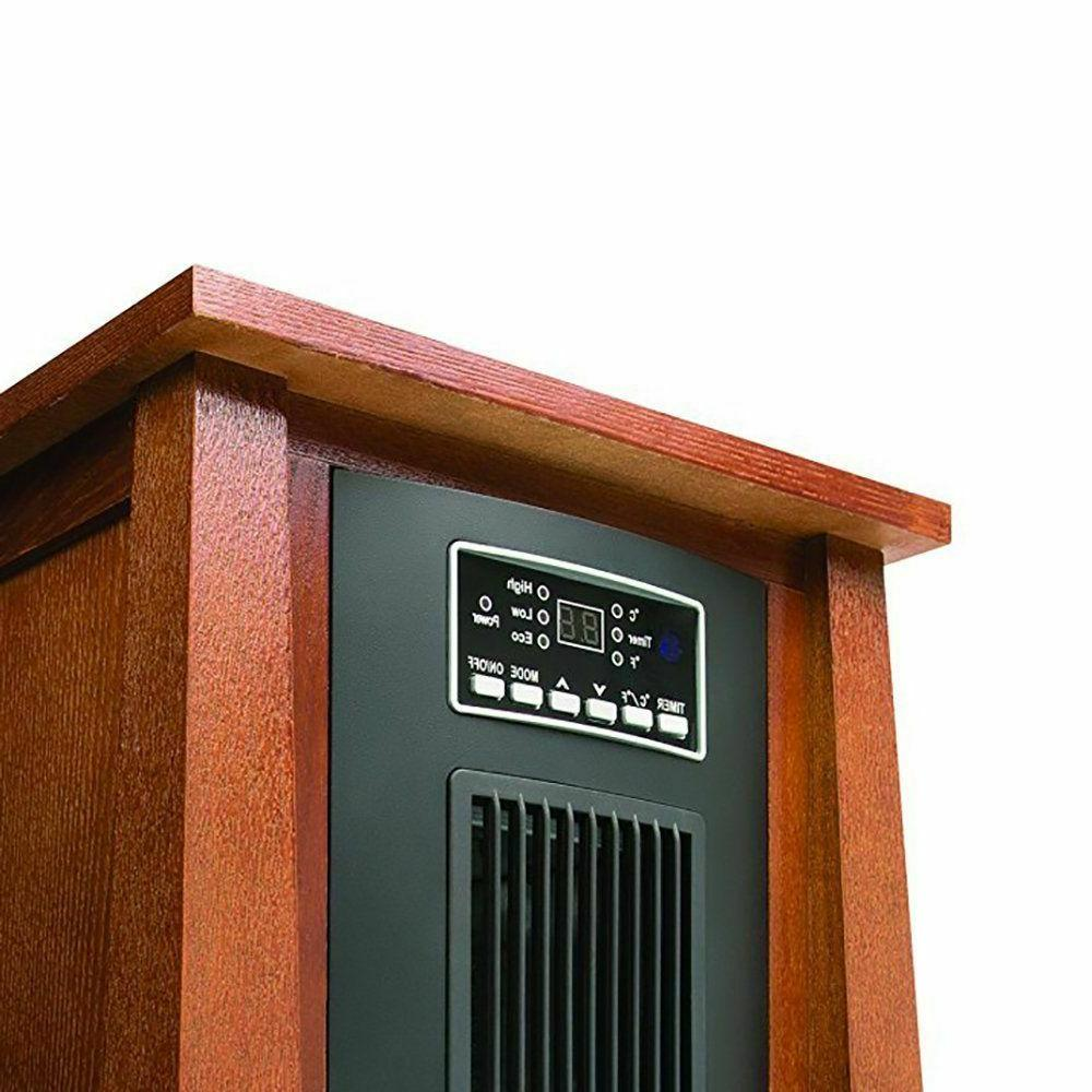 Haier 1500 Watt BTU Infrared Space w/Real Oak Remote