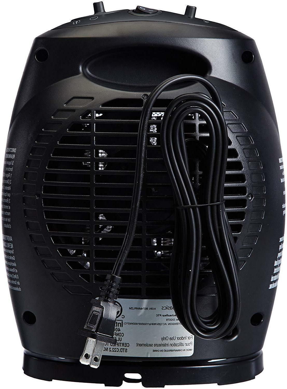 AmazonBasics 1500 Oscillating Thermostat Black