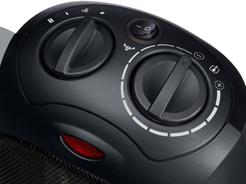 AmazonBasics 1500 Watt Oscillating Ceramic Space Heater w/Adj Thermostat -