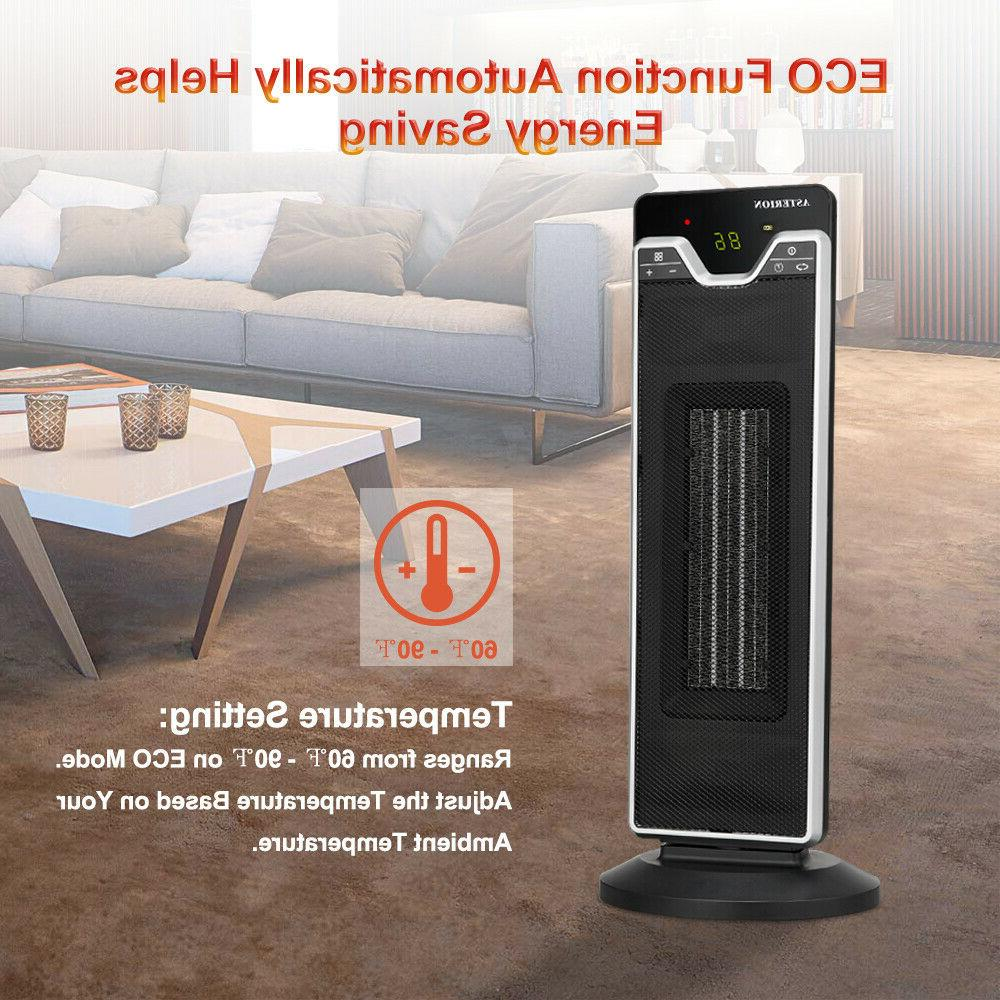 1500W Electric Space Heater Oscillating Tower Convector Compact