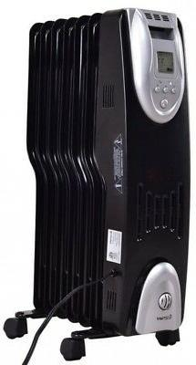 1500W Electric Oil Filled Radiator Digital Control Portable