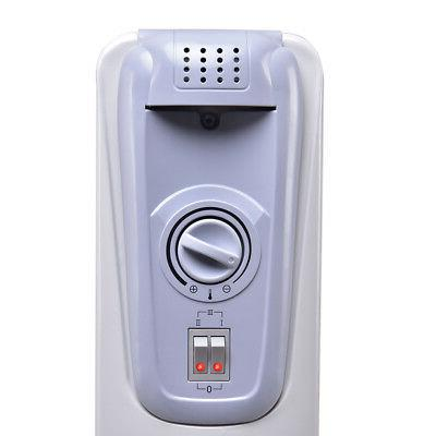 1500W Filled Radiator Space Heater Thermostat Radiant