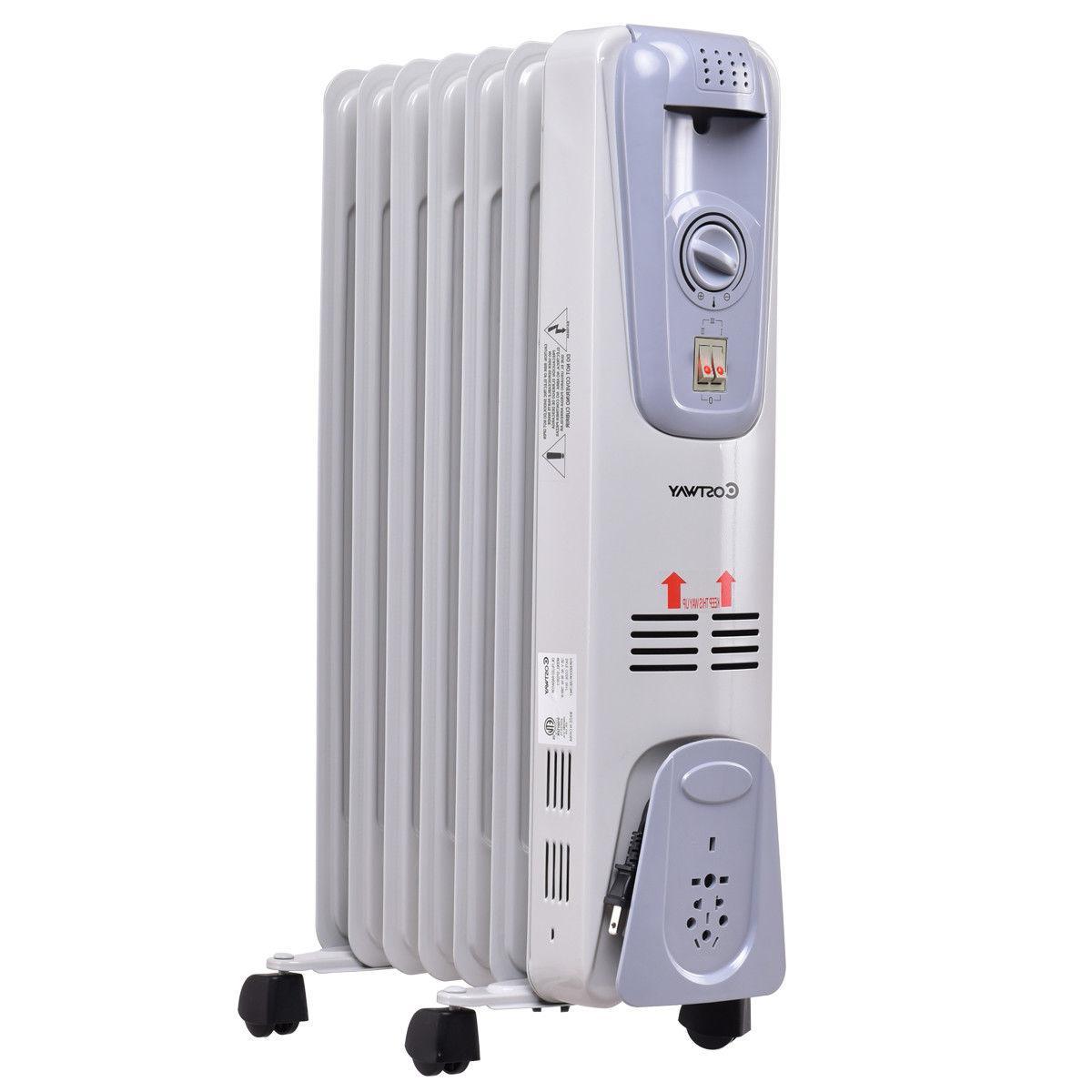 1500W Oil Radiator Thermostat Radiant