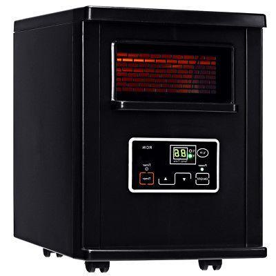 Goplus 1500W Infrared Quartz Space Filter Remote