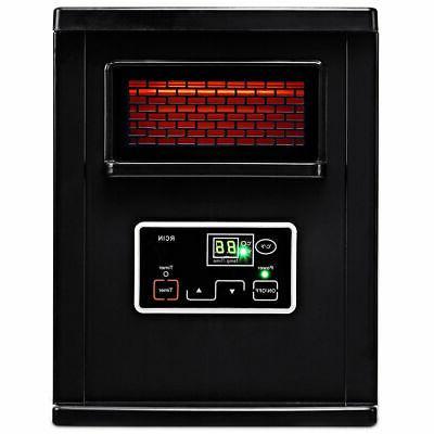 Goplus Electric Infrared Quartz Filter Remote Black