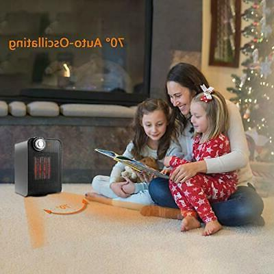 1500W Silent Infrared Quiet Space Heater w/ Thermostat Control