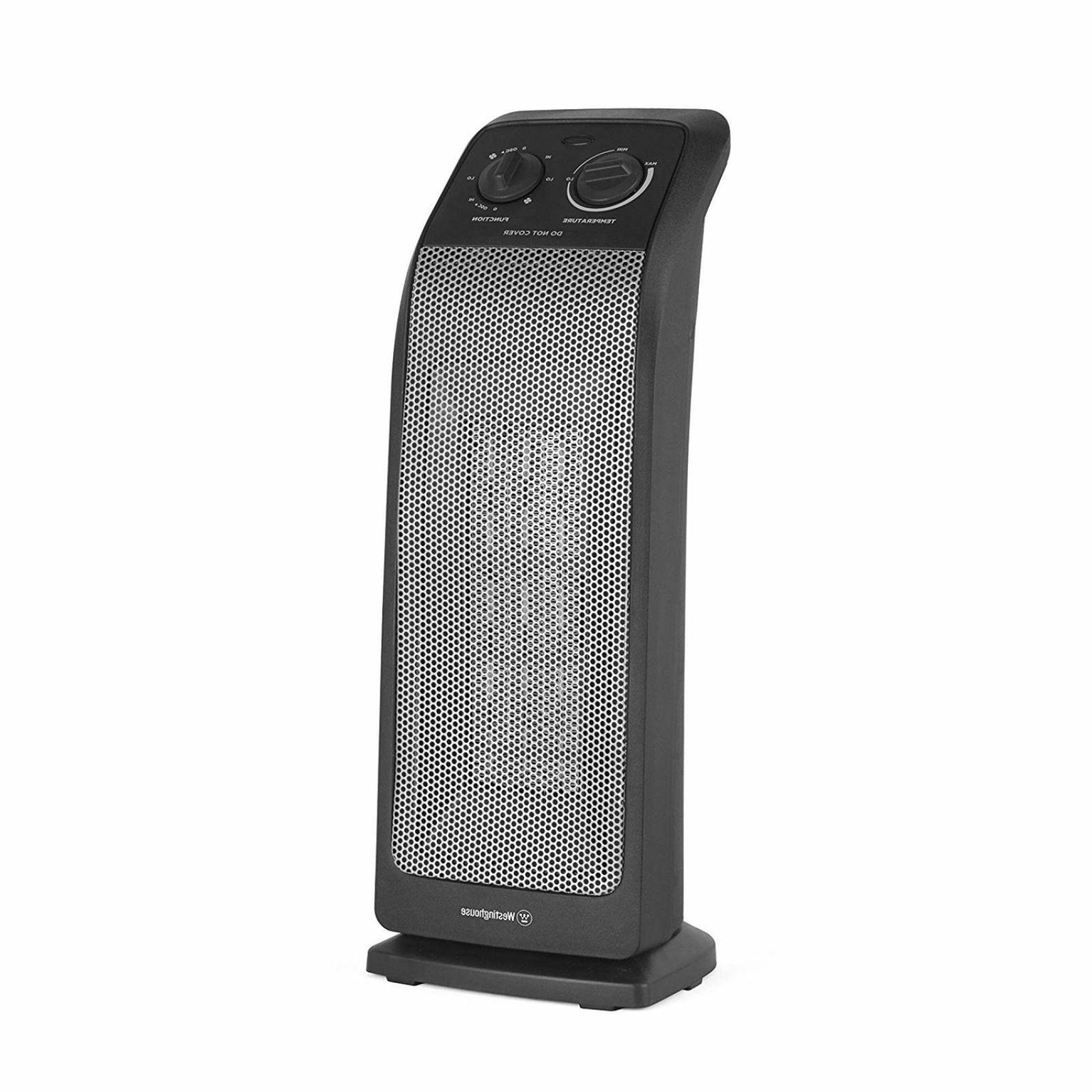 1500W Electric Portable Tower Heater Oscillating Ceramic Spa